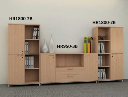 Tủ gỗ đựng hồ sơ HR1800-2B