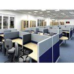 Văn phòng làm việc rộng rãi hơn với vách ngăn văn phòng Hòa Phát