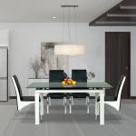 Không gian phòng ăn trở nên sang trọng và ấm cúng với Bộ bàn ghế ăn của Nội thất Hòa Phát