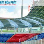 Nội thất Hòa Phát thiết kế, lắp đặt ghế ngồi sân vận động Pleiku