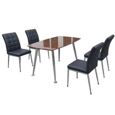 Bộ bàn ghế ăn Veneer cao cấp B68, G68
