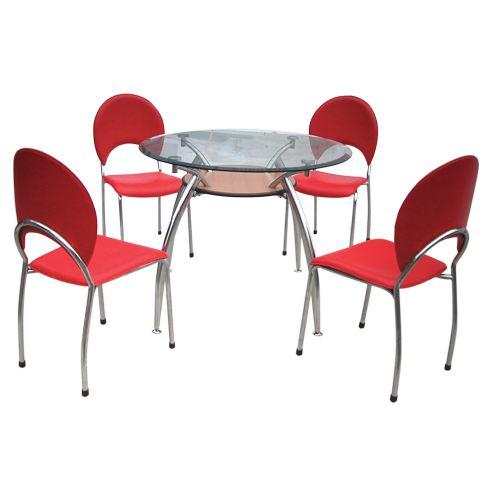 Bộ bàn ghế ăn mặt kính B53, G53