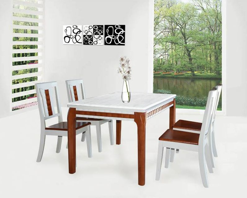 Bộ bàn ghế ăn gỗ cao cấp BA116, GA116
