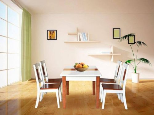 Bộ bàn ghế ăn gỗ cao cấp BA117, GA117