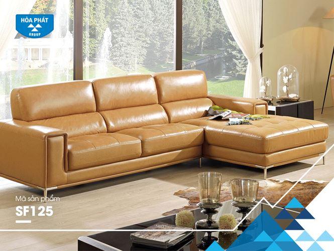 Bộ ghế sofa bọc da cao cấp SF125