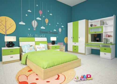 Bộ giường tủ phòng ngủ trẻ em GNE301