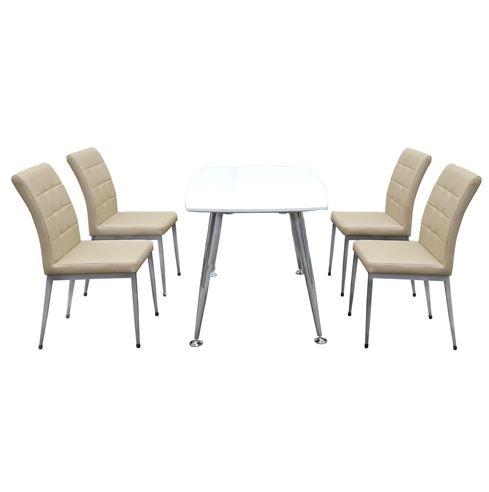 Bộ bàn ghế ăn sơn phủ PU B68, G68