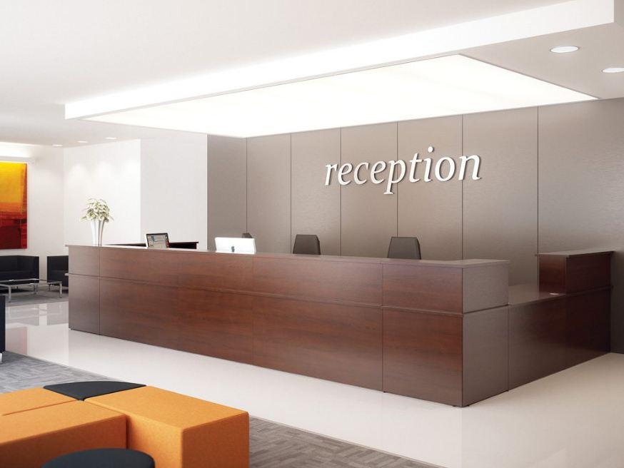 Một số mẫu thiết kế bàn quầy lễ tân đẹp cho văn phòng làm việc