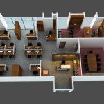 Thiết kế nội thất văn phòng chung cư hiện đại, tiện nghi