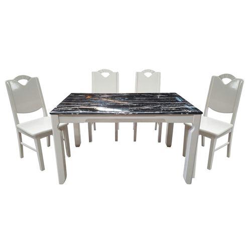 Bộ bàn ăn gỗ tự nhiên HGB65B