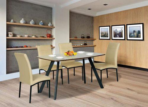 Bộ bàn ăn khung thép B50