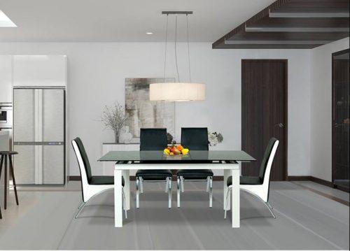 Bộ bàn ăn khung thép Hoà Phát B55, G56