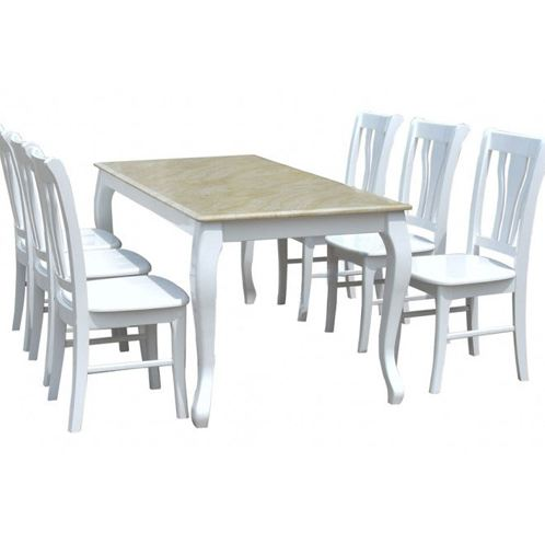 Bộ bàn ghế ăn gia đình gỗ tự nhiên HGB61B