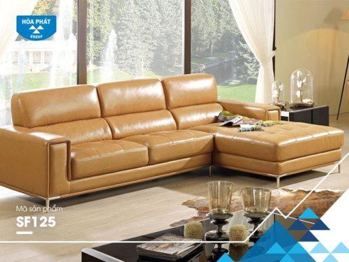 Bộ ghế sofa góc da thật SF125A