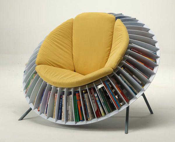 Ghế đọc sách kiêm kệ trang trí