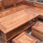 Bàn ghế gỗ hương phòng khách đẹp cho gia đình