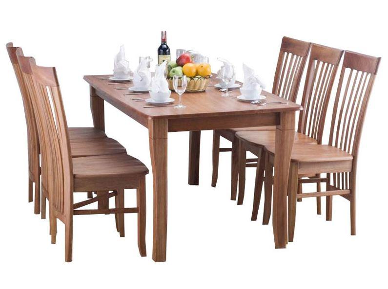 các mẫu bàn ghế gỗ phòng ăn