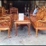 Giới thiệu về bộ bàn ghế gỗ hương tay 14