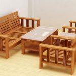 Bàn ghế phòng khách đẹp từ chất liệu gỗ sồi