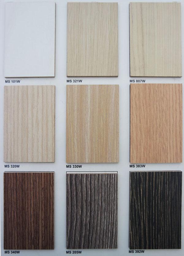 Bảng màu gỗ MFC 9