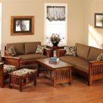 Cách bố trí bàn ghế gỗ trong phòng khách ấn tượng hoa học nhất