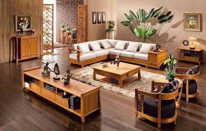 Ưu điểm của bàn ghế gỗ công nghiệp phòng khách