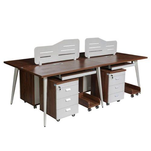 Module bàn làm việc 4 chỗ ngồi LUXMD01C10