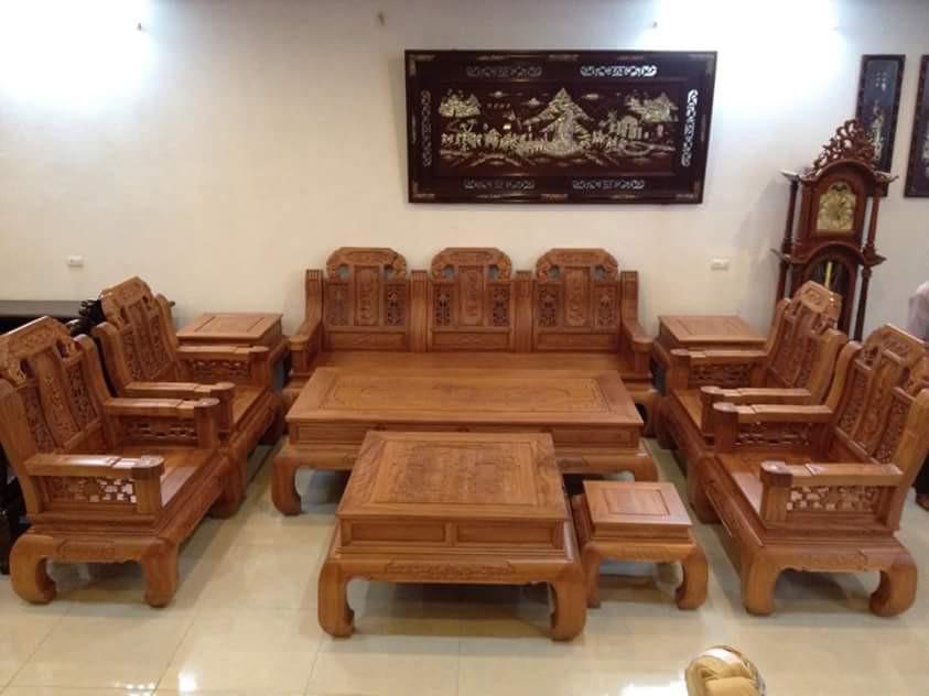 bàn ghế phòng khách đồng kỵ