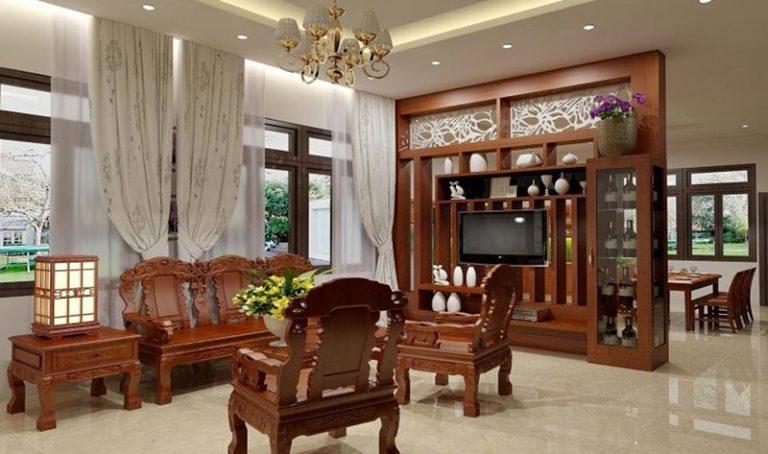nội thất phòng khách bằng gỗ (01)
