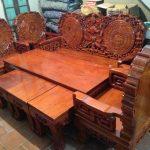Giá bộ bàn ghế gỗ hương đỏ hiện nay