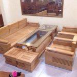 Mẫu bàn ghế gỗ hiện đại cho phòng khách nhỏ