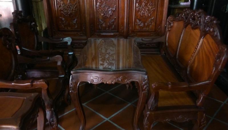 thanh lý ghế sofa gỗ
