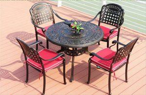 bàn ghế sắt giá rẻ cho không gian ngoài trời