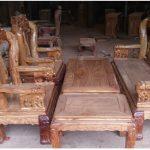 Trang trí phòng khách với bộ bàn ghế gỗ Hương tay 12