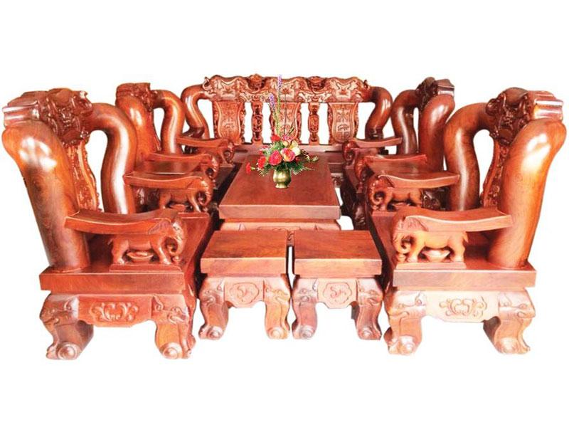Bàn ghế gỗ phòng khách hương voi