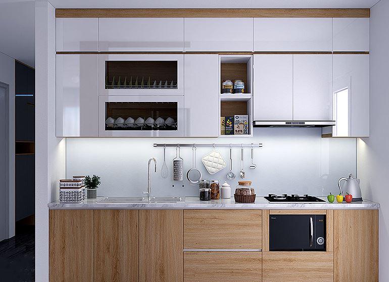 Top 45] mẫu tủ bếp mini trong phòng bếp gia đình - Nội Thất Hòa Phát