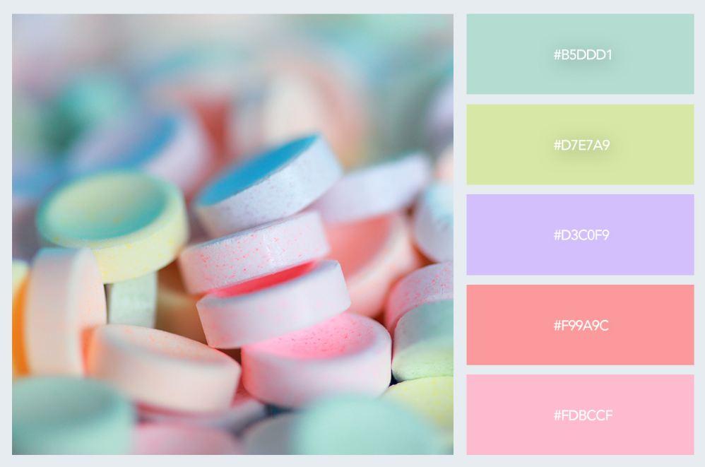 bảng màu pastel trong thiết kế nội thất 11