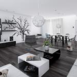 Tìm hiểu về gam màu trắng đen trong thiết kế nội thất