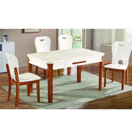 Bộ bàn ăn khung gỗ BA128