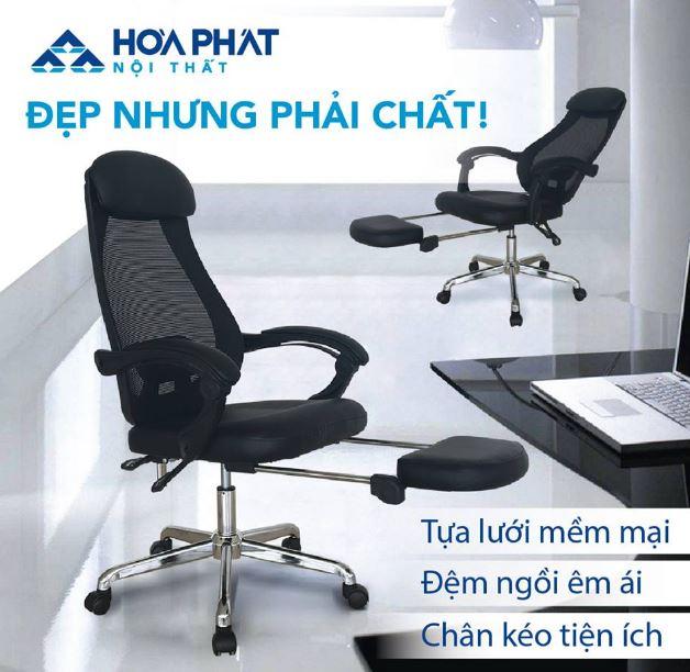 ghế lưới văn phòng Hòa Phát GL323