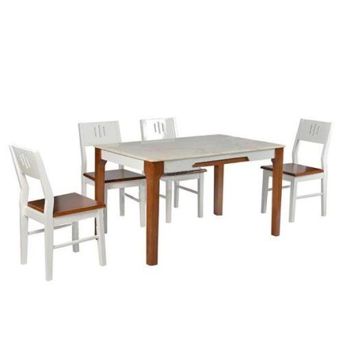 Bộ bàn ghế ăn khung gỗ tự nhiên HGB67A, HGG67
