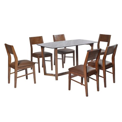Bộ bàn ghế ăn khung gỗ HGB69A, HGG69