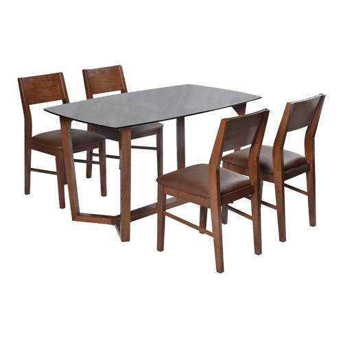 Bộ bàn ghế ăn khung gỗ HGB69B, HGG69
