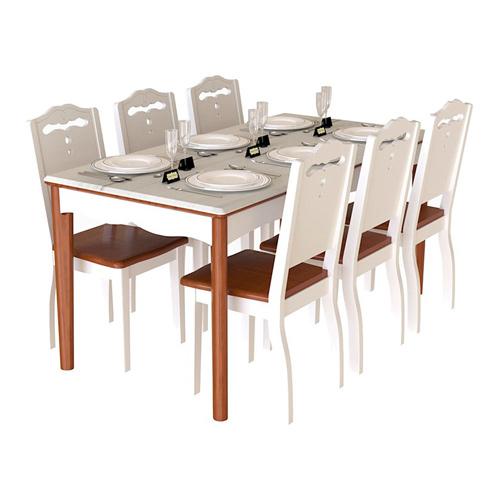 Bàn ghế ăn gia đình gỗ tự nhiên HGB70A, HGG70