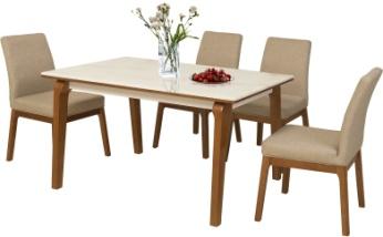 Bộ bàn ăn gỗ Tần Bì HGB76B, HGG76