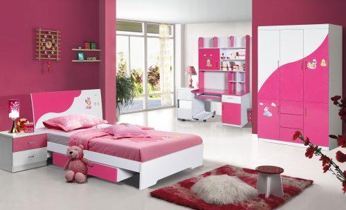 Bộ giường tủ phòng ngủ bé gái GNE02