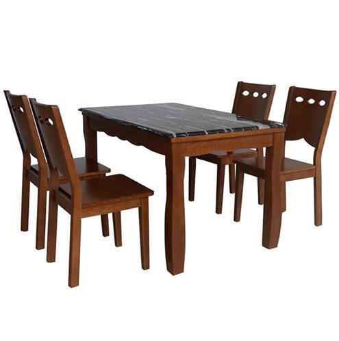 Bộ bàn ăn khung gỗ HGB74A, HGG74