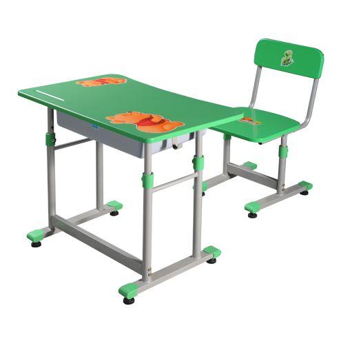 Mẫu bàn ghế học sinh BHS28-2-GHS28-2 thiết kế an toàn cho trẻ