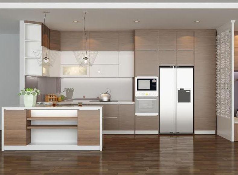 Mẫu thiết kế tủ bếp gia đình sang trọng