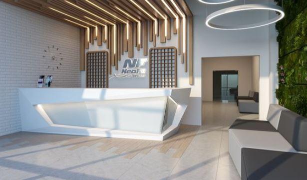 Không gian phòng chờ doanh nghiệp với thiết kế hiện đại ấn tượng